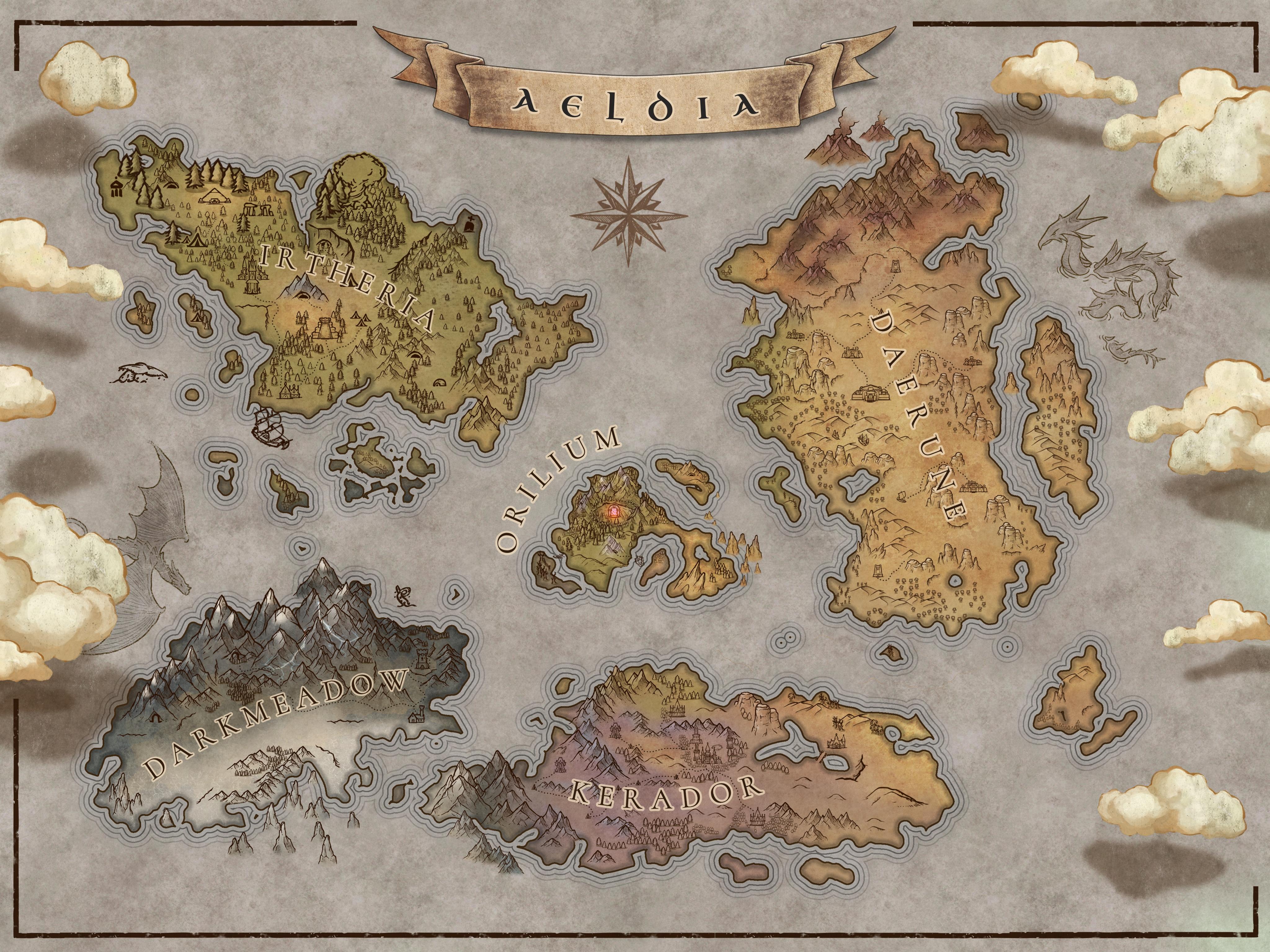 Aeldia map in colour